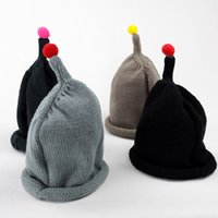 Wholesale Boys Toddler Fitted Caps - 4 Colors Toddler Infant Kids Children Soft Cute Lovely Knit Hat Beanies Cap