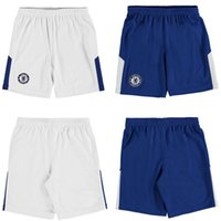 Wholesale Men S Home Pants - 2017 2018 chelsea bule white soccer shorts 17 18 MORATA HAZARD DIEGO COSTA Willian Pedro home away 17 18 soccer pants Wear shorts