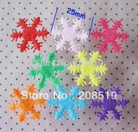 Supplies estive partito decorativa Flowers Corone PA0012 di trasporto 25MM patch fiocco di neve Appliques non tessuti 200pcs misto a caso ch ...