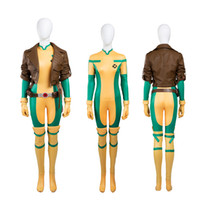 Wholesale Sexy Costume Super - NEW Arrival Costumes Super Hero X-Men Rogue Cosplay Costume Jacket+Jumpsuit Any Size High Quality Skintight Sexy Suit