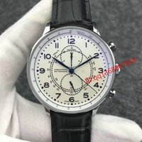Wholesale Automatic Tachymeter - HOT selling Luxury Mens watch Brown Tachymeter Date Leather Sport automatic WristWatch Fashion Stainless steel Swiss Men's iw watches