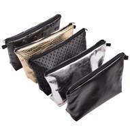 Wholesale Handbag City - Wholesale-Mix City 2016 New Design High Texture Storage Women Cosmetic Bag Beauty Simple Make-up Bags Fashion PU LEATHER BAGS Handbag