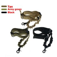 Wholesale Sling Single Point Rifle - Tactical 1 Single Point Adjustable Bungee Rifle Gun Sling System Strap Hook Black Tan Army Green #4172