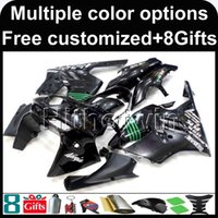 Wholesale 95 Zx9r Fairings - 23colors+8Gifts black kit motorcycle cowl for Kawasaki ZX9R 1994-1997 ZX9R 94 95 96 97 ABS Plastic Fairing