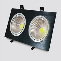 Wholesale Price Square Down Light - Wholesale price Super Bright Dimmable 2*10W Double Led Down light COB Ceiling lights 20W cob led ceiling lamp AC85-265V + Led Driver