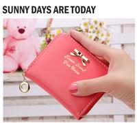 корейский бренд кошелек оптовых-2016 новый женский кошельки мода кожаный бумажник клатчи корейский милый бантом 3D кошелек известный женский бренд женщины клатчи
