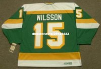 vendita all'ingrosso personalizzato Throwback Mens KENT NILSSON Minnesota North Stars 1985 CCM Vintage Throwback Cheap Retro Hockey Jersey