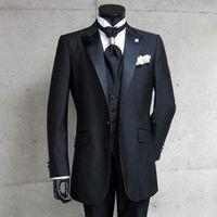 Wholesale Men S Western Suit Jacket - Wholesale- 2017 Custom Made High Quality groom suit three-piece Men's Suits Western Wedding groom Tuxedos (Jacket+Pants+Vest+Tie)