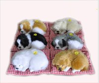 Wholesale cheap animal soft toys online - 2017 Cheap creative Baby Children birthday gift toys called dog nap cloth pad simulation simulation animal toy dog