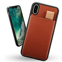 Wholesale Wholesale Pull Ups - For iPhone 7 8 X Wallet Leather Case Shockproof RFID Pouch Pull Up Credit ID Card Holder Phone Cover For iphone 6 plus