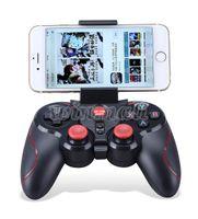 bluetooth ipad denetleyicisi toptan satış-DHL 20 adet S5 Bluetooth Kablosuz Oyun Denetleyicisi Gamepad Joystick IOS iPhone iPad Android Akıllı Telefon için Akıllı TV VR Kutusu