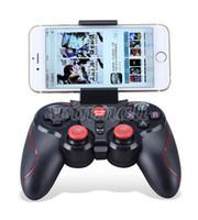controladores de juegos de android al por mayor-DHL 20 unids S5 Bluetooth Controlador de juegos inalámbrico Gamepad Joystick para IOS iPhone iPad Android Teléfono inteligente Smart TV VR Box