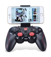 Wholesale Ios Box Tv - DHL 20pcs S5 Bluetooth Wireless Game Controller Gamepad Joystick for IOS iPhone iPad Android Smart Phone Smart TV VR Box
