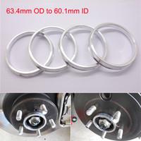 ingrosso od ring-4 pezzi di mozzo brandnew Hub Centric 63,4 millimetri OD a 60,1 millimetri ID in lega di alluminio