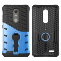 Support de rotation à 360 degrés TPU Étui rigide pour PC pour ZTE Zmax Pro Z981 Moto X PLAY G3 E3 Z Force Sony Xperia E5 Armor Shockproof Stand Skin Cover