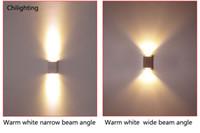 lampe murale au carré achat en gros de-LED mur lampe carré moderne bi-direction en aluminium décoration scone éclairage couloir jusqu'à liguer AC90V-260V préfèrent livraison gratuite