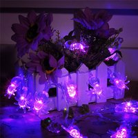 Wholesale Led Star Window Lights - 2.2m 20leds Spider Bat Shape Stylish led string fairy lights festival party garden tree window decoration AA Battery Power
