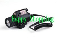 Wholesale Tactical Red Laser Torch - Tactical M6 red Laser and Flashlight Torch Light CREE LED Black Sand