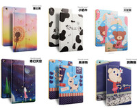 Wholesale smart Cartoon retro Pu leather case cover for iPad mini mini ipad air air ipad ipad Pro with Stand Folding DHL
