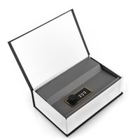 Wholesale Hidden Lock Boxes Books - 2015 High Quality Black Dictionary Hidden Secret Book Design Valuables Safety Money Cash Box Security Key With Lock