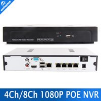 Wholesale Network Ip Camera Poe - 4CH 8CH Full HD 960P 1080P 48V Real PoE NVR All-in-one 1U Onvif Network Video Recorder For PoE IP Camera P2P Cloud Onvif