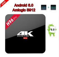 Новый H96 PRO Android 7.1 TV Box Amlogic S912 Octa Core 2GB и 3GB RAM 16GB ROM Smart tv Dual WiFi Bluetooth 4.0 H.265 4K android tv
