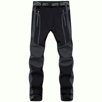 Wholesale Gore Tex Pants - Wholesale-2016 Winter Thermal Softshell Pants Men Outdoor Sport Tech Fleece Waterproof Trousers Trekking Skate Ski Windproof Pants,UA231