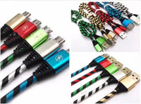 Wholesale Universal Zebra - 2017 Micro Cable Zebra Grain Braided Nylon High Speed charge USB 3ft Sync Data Cord for samsung LG smartphone metal head cable