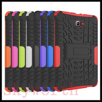 Wholesale S Impact Case - Rugged Impact Stand Shockproof Heavy Duty Case Cover For Samsung Galaxy tab 4 S S2 E T560 T580 T810 ipad pro 9.7
