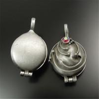 Wholesale Prayer Box Antique - 2PCS Antique Style Tin Color Brass Locket Prayer Box Charm Pendants 31*24m*16MM jewelry making