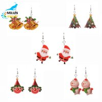 Wholesale Clown Earrings - New products 5 Paris Fashion Earrings sets Christmas Gift Kids Jewelry christmas trees snowman bell Santa Claus clown earrings for women
