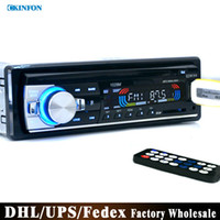 Wholesale car dvd DHL Fedex V Car Stereo FM Radio MP3 Audio Player Charger USB SD AUX Car Electronics Subwoofer In Dash DIN
