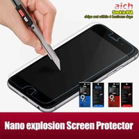 Wholesale Arc Shipping - Wholesale Overseas warehouse Top Quality iphone 6s plus Nano explosion Screen Protector 0.16MM 2.5D Arc Explosion Proof Free shipping