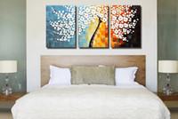 yağlıboya renk ağacı toptan satış-Saf el-boyalı yağlıboya (para ağacı) oturma odası dekoratif boyama, 3 renk seçenekleri, çerçevesiz