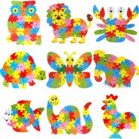 Wholesale Jigsaw Letters Wholesale - Wholesale-Early Educational Jigsaw Puzzles Toys 26 Letters Cognitive Wooden Toy 3D Wooden Puzzle Toys