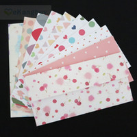 Wholesale Stationery Paper Designs Envelope - Wholesale- 10pcs 10 Designs Lovely Paper Envelope Invitation Cards Storage Gift Envelope Novelty Stationery supplies