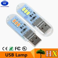 Wholesale Selling Lights China - Hot Sell Mini Mobile Power USB LED Lamp Camping Gadget Lighting Computer Small Night Light Free shipping