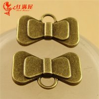 Wholesale Hair Manufacturers Yiwu - A3599 12*20MM Antique Bronze DIY handmade jewelry accessories pendant Korea Hair Bow Pendant Yiwu manufacturers, bowknot charm beads