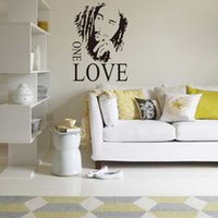 Wholesale Wall Stickers Bob Marley Quotes - Bob Marley One Love Music Graphic Quote Art Decal Wall Sticker Home Decor free shipping hot sale