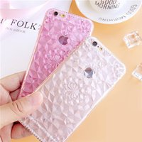 Wholesale Cell Phone Crystals Cover - For Iphone 7 cases Crystal diamond texture TPU clear cell phone case for iphone 6s with full cover design
