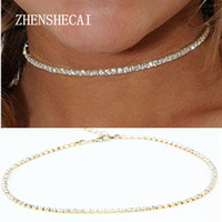 Wholesale Trend Fashion Vintage Choker - 2017 Trend NEW FASHION Vintage Classic Choker Necklace Full Crystal Pendant Necklace For Women Girl Gift Statement X186
