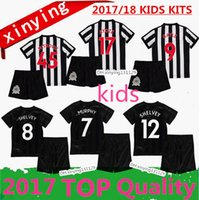 Wholesale Boys Red Tops - top quality 17 18 Home Away third Newcastle United kids soccer jerseys 2017 2018 kitS GAYLE MITROVIC Perez RITCHIE child set football shirt