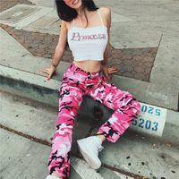 Wholesale Dotted Jeans - 2017 Women Casual Pants Summer Pink Jogger Pants Military Camouflage Women Pants Slim Fitness Female Cotton Harem Capris Jeans