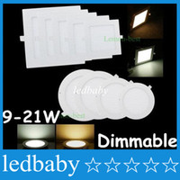 Square / Round 9W / 12W / 15W / 18W / 21W Dimmable Led Slim Panel Lights Eingebauter Downlights 4