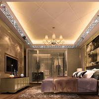 Wholesale fashion television - Three-dimensional Crystal Mirror Backdrop Decorative Wall Stickers DIY Gold Silver Waist Fashion Glossy Green Acrylic Wall Stickers