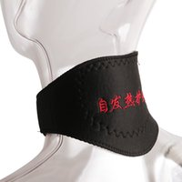 Wholesale Cervical Therapy - Black Self-heating Neck Guard Cervical Vertebra Self Heating Magnetic Massager Belt Tourmaline Support Orthopedic Heat Therapy Suppo 3006048