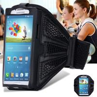bolsa para correr para s4 al por mayor-Al por mayor-impermeable del deporte del gimnasio brazalete de la caja para Samsung Galaxy S6 G9200 S6 Edge G9250 S5 S4 S3 A3 A5 entrenamiento de la manera que ejecuta la bolsa de teléfonos