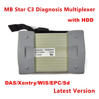 Wholesale Mb Star C3 Xentry - newest 2015.07 Top Rated Mercedes Tester MB Star C3 full set with HDD installed well (DAS +Xentry + WIS + EPC+Sd)
