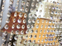 Wholesale Wedding Garland Acrylic Crystal - 66 FT Crystal Garland Strands Clear Acrylic Bead Chain Wedding Party Manzanita Tree Hanging Wedding Decorations supplies