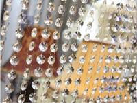 ingrosso filamenti di branelli di cristallo acrilico-66 FT Crystal Ghirlanda fili trasparente acrilico perline Catena di nozze Albero Manzanita Hanging Decorazioni di nozze forniture